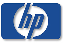 HP blue and white logo